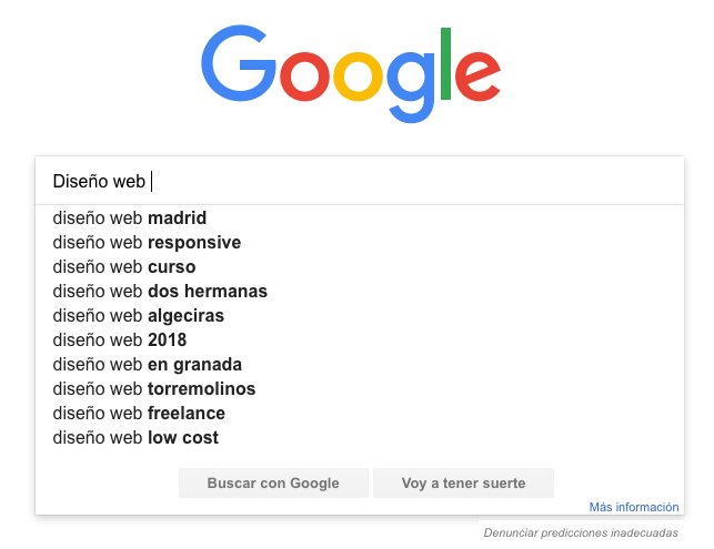 busqueda en buscador google