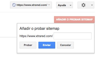 añadio de sitemap