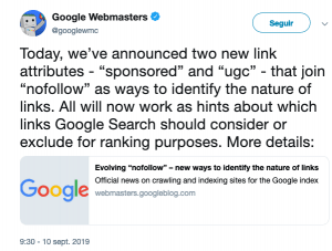 cambio enlaces google search console