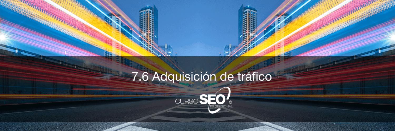analítica seo adquisición de tráfico